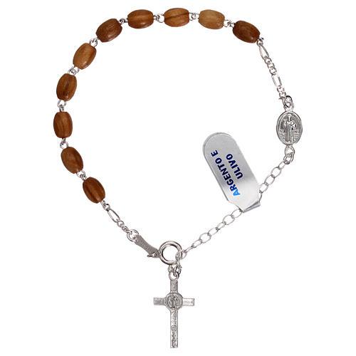 Bracciale rosario pater S. Benedetto grani legno 2