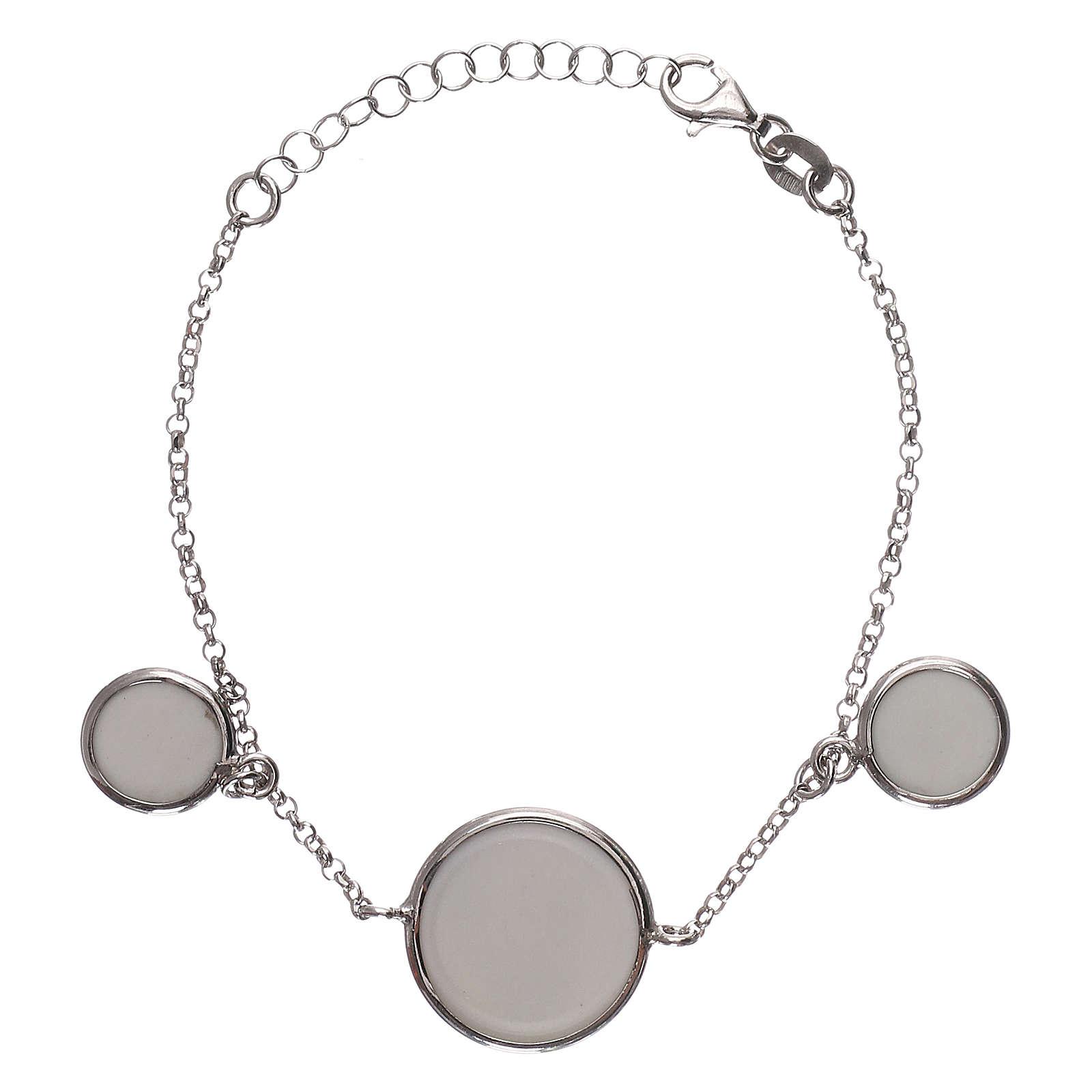 Braccialetto argento 925 con tre medaglie 4