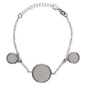 Braccialetto argento 925 con tre medaglie s2