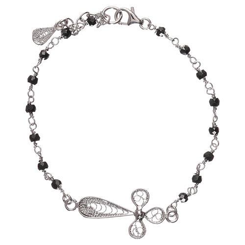 Bracelet 925 Et Filigrane Croix Argent Rhodié Zircons D9eWE2IHYb