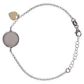 Braccialetto argento 925 medaglia e cuoricino s2