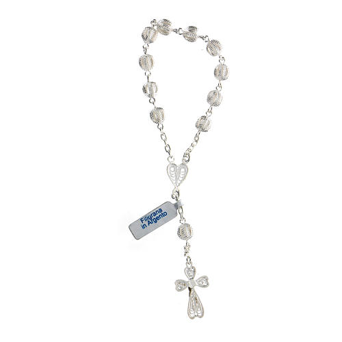 Bracciale decina filigrana in argento con cuore 2