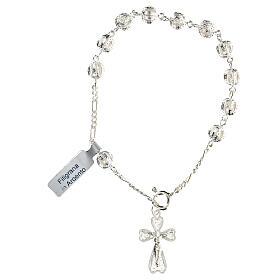 Pulsera decena rosario filigrana de plata 800 s1