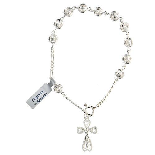 Pulsera decena rosario filigrana de plata 800 1