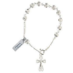 Bracciale decina rosario filigrana in argento 800 s1