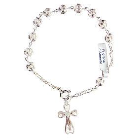 Bracciale decina rosario filigrana in argento 800 s2