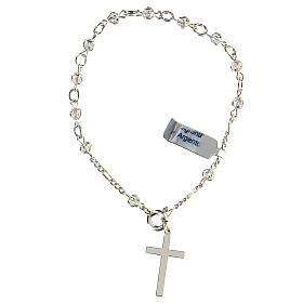 Bracciale rosario decina con filigrana in argento 800 s2