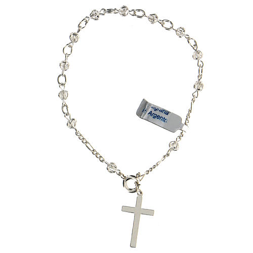 Bracciale rosario decina con filigrana in argento 800 2