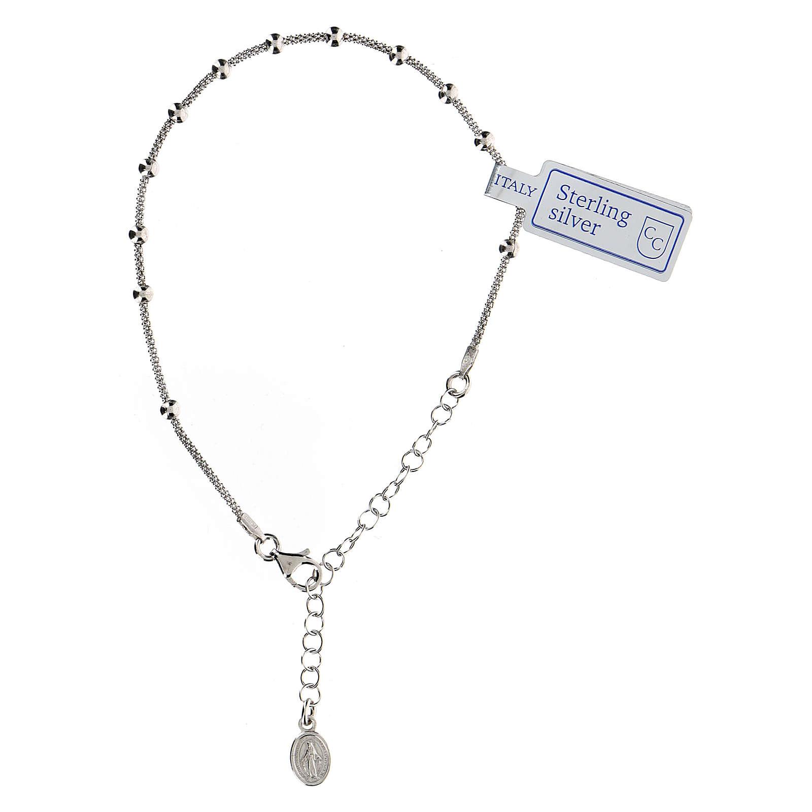 Bracciale decina argento 925 Madonna fin. Rodio 4