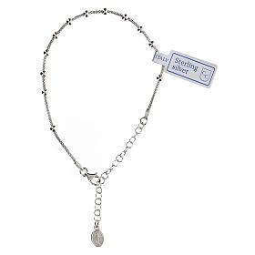 Bracciale decina argento 925 Madonna fin. Rodio s1