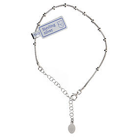 Bracciale decina argento 925 Madonna fin. Rodio s2