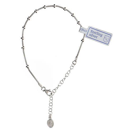 Bracciale decina argento 925 Madonna fin. Rodio 1