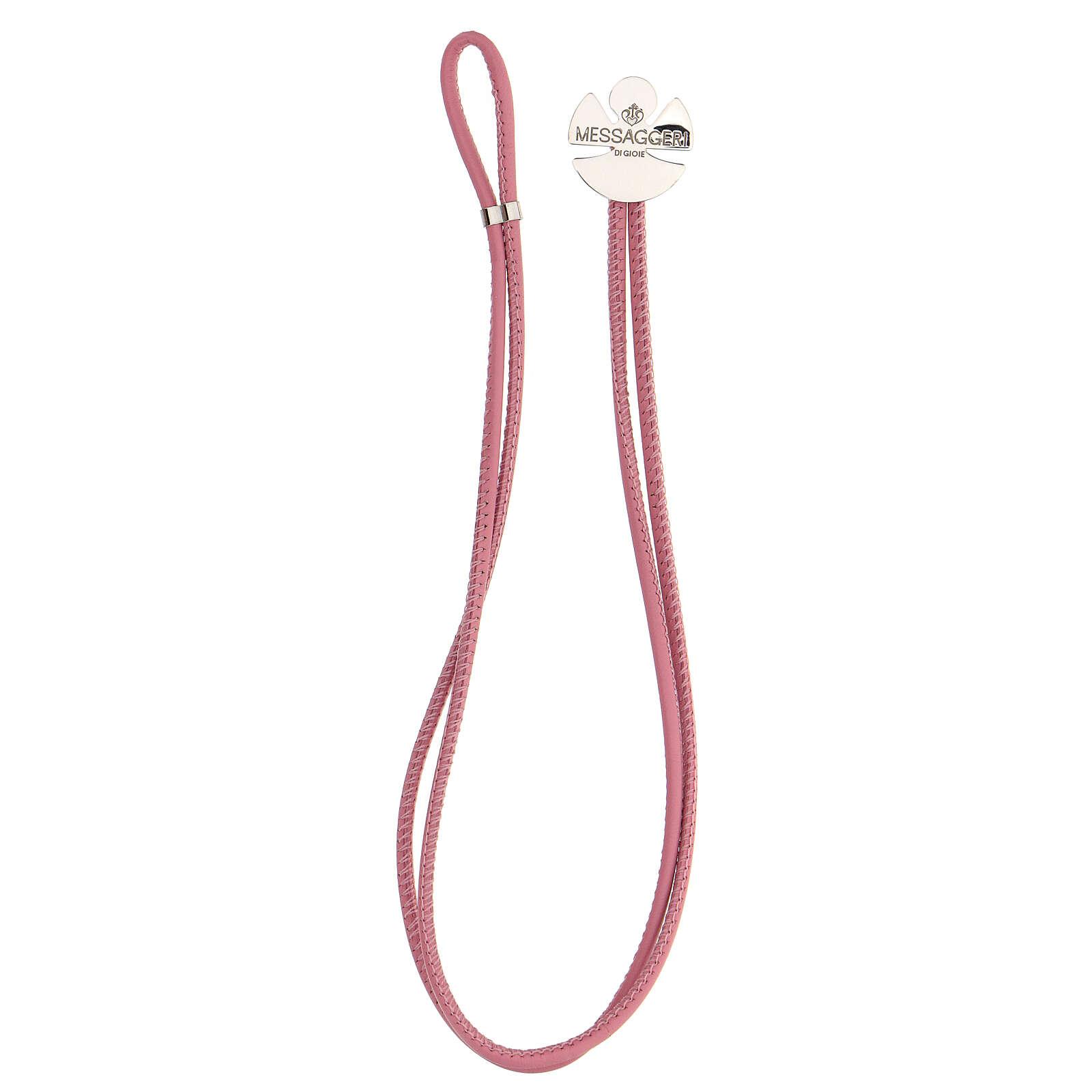 Bracelet ange argent 925 Messaggeri di Gioie rose 4