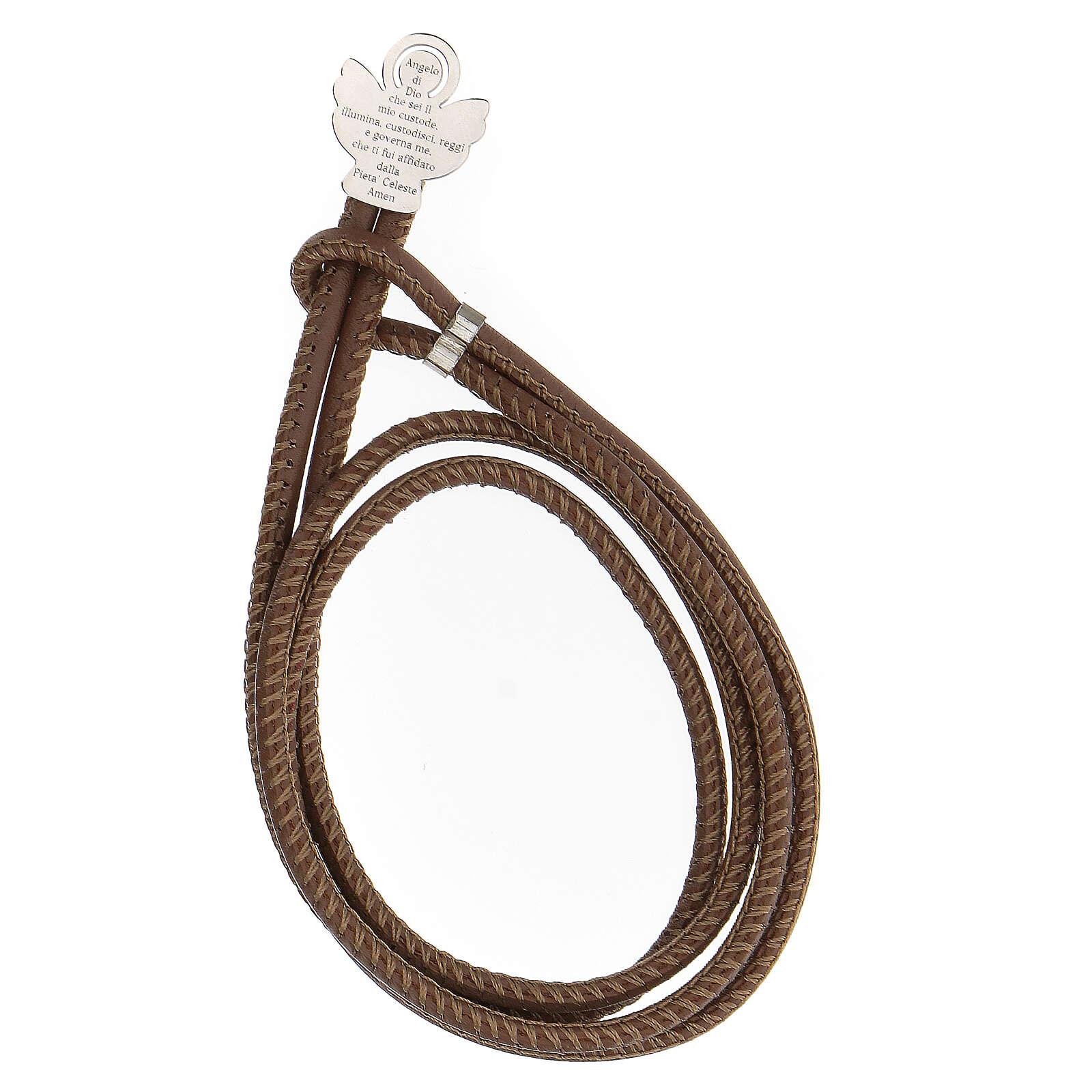 Bracelet brun Ange de Dieu argent 925 4