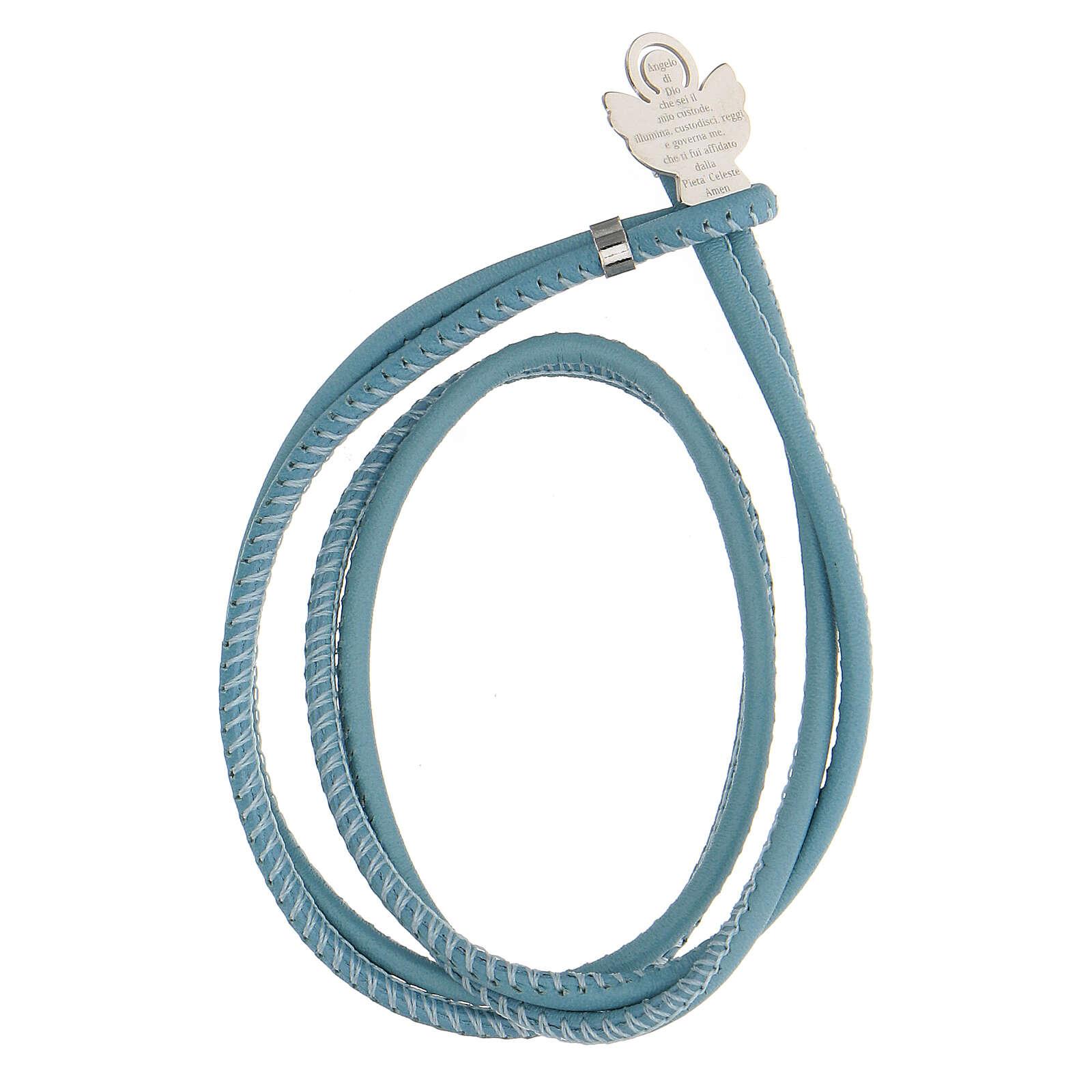 Bracelet bleu clair Ange de Dieu argent 925 4