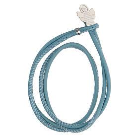 Bracelet bleu clair Ange de Dieu argent 925 s1