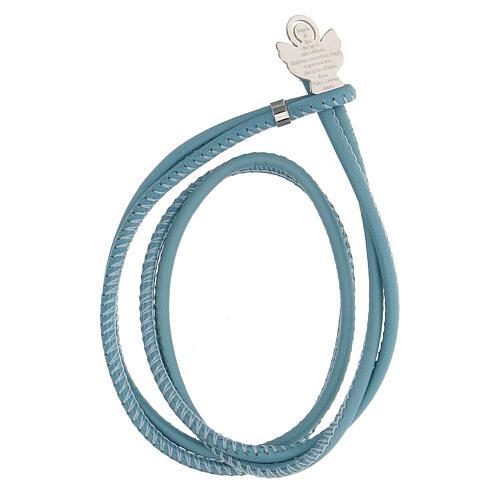 Bracelet bleu clair Ange de Dieu argent 925 1