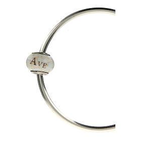 Pendente passante per bracciali collane Ave Maria vetro Murano argento 925 s4