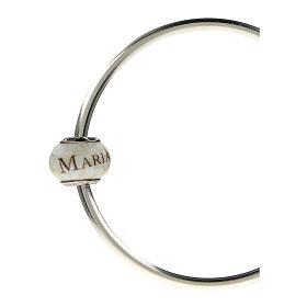 Pendente passante per bracciali collane Ave Maria vetro Murano argento 925 s5