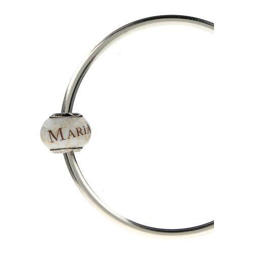 Pendente passante per bracciali collane Ave Maria vetro Murano argento 925 5