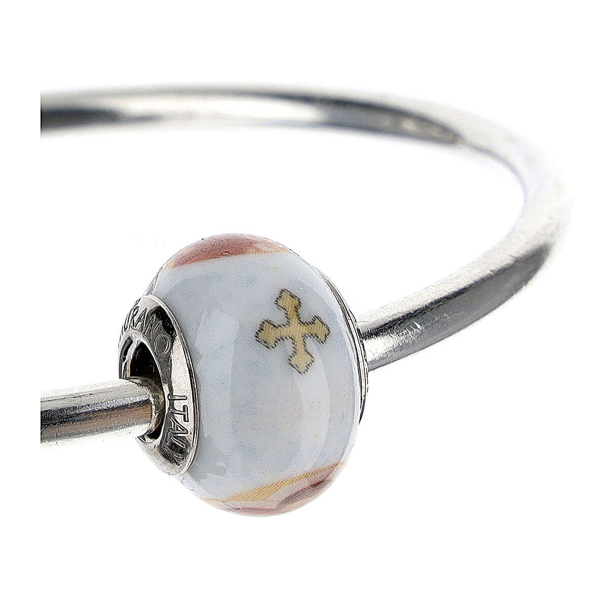 Charm Sagrada Familia para pulseras vidrio Murano plata 925 4