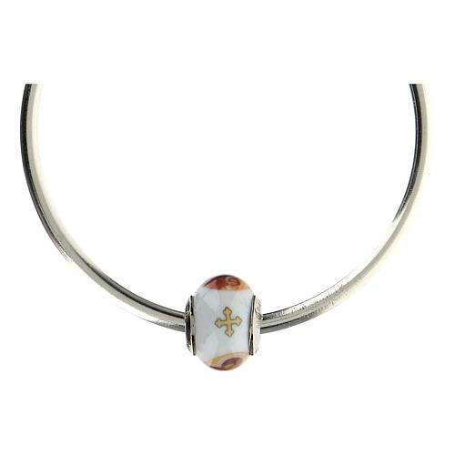 Charm Sagrada Familia para pulseras vidrio Murano plata 925 5
