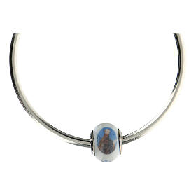 Perle charm Saint François pour bracelets verre Murano argent 925 s4