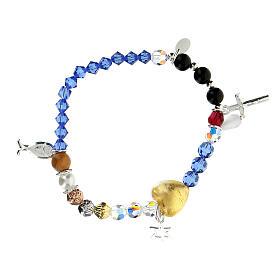 Bracelet élastique Vie de Jésus multicolore argent 925 s2