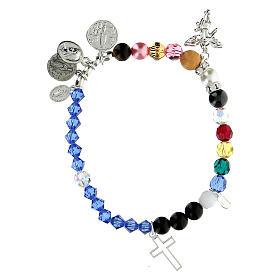 Bracelet vie de Marie argent sterling cristal pierres semi-précieuses s1