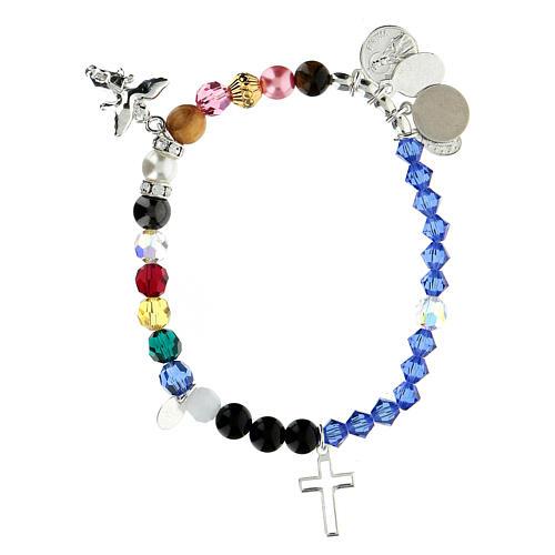 Bracelet vie de Marie argent sterling cristal pierres semi-précieuses 2
