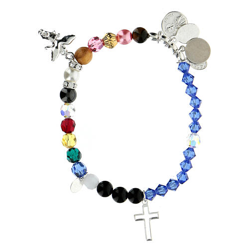 Sterling silver bracelet Life of Mary crystal hard stones 2