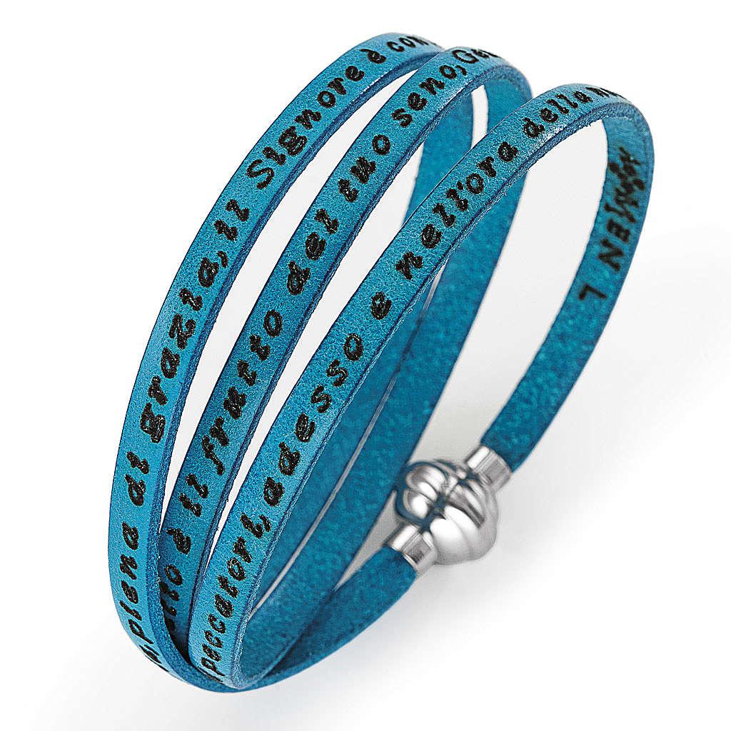 Bracelet Amen Je vous Salue Marie turquoise ITA 4
