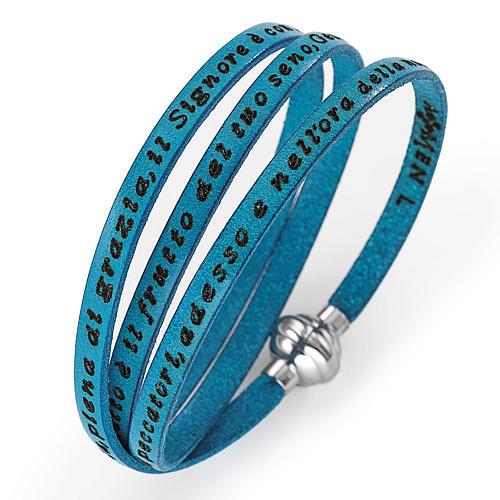 Bracelet Amen Je vous Salue Marie turquoise ITA 1