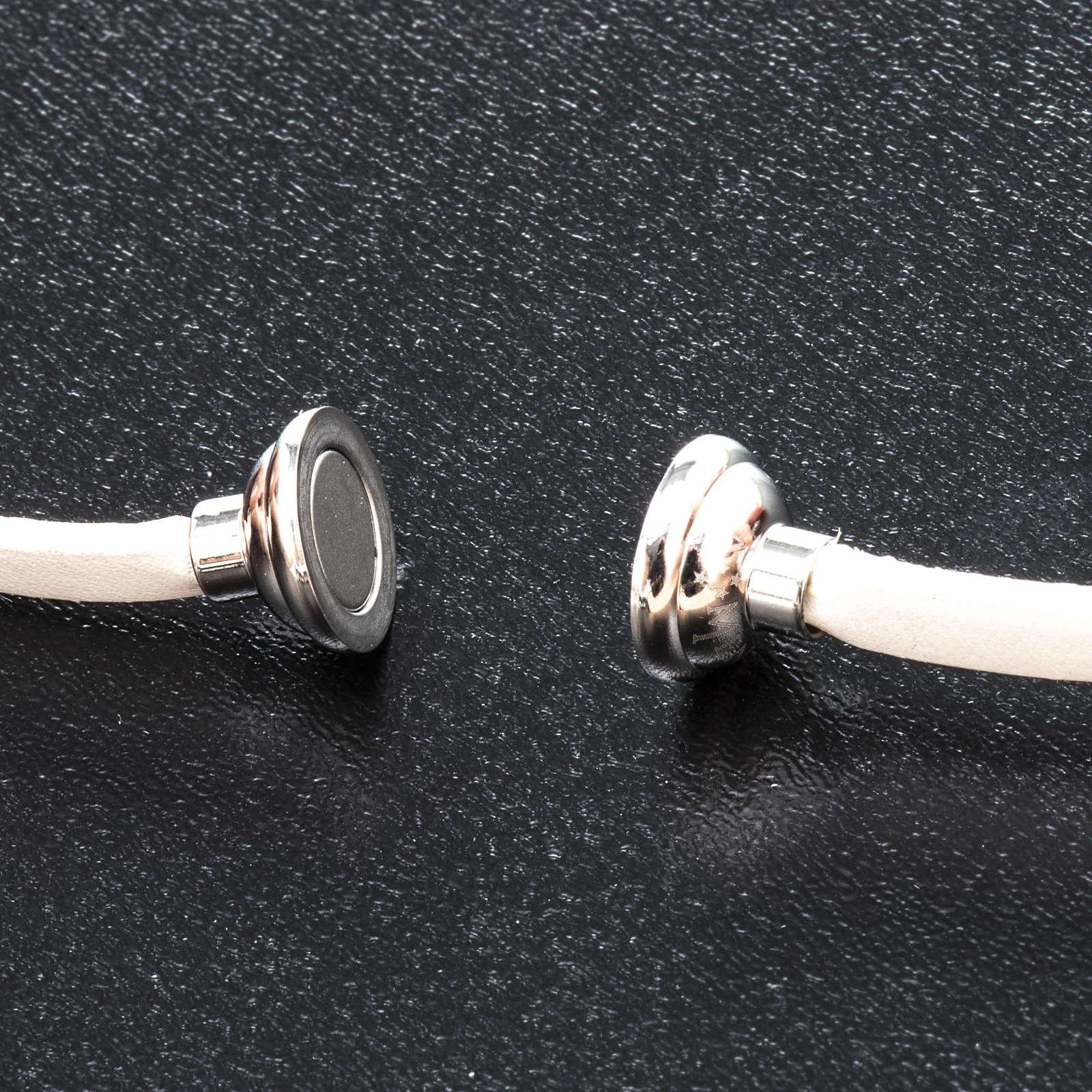 Amen Bracelet in white leather Guardian Angel ITA 4