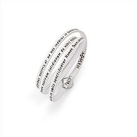 Amen Bracelet in white leather Our Father LAT s1