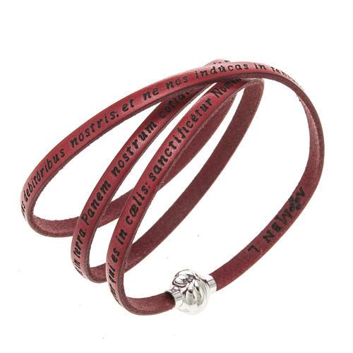 Armband AMEN Vater Unser Lateinisch rot 1