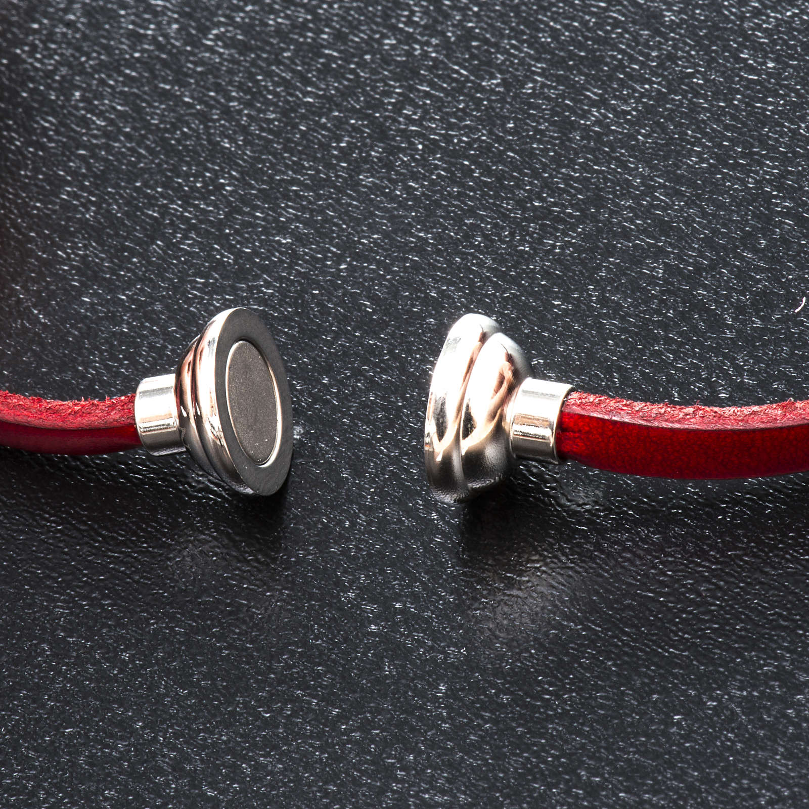 Amen Bracelet in red leather Our Father LAT 4
