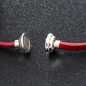 Amen Bracelet in red leather Our Father LAT s2