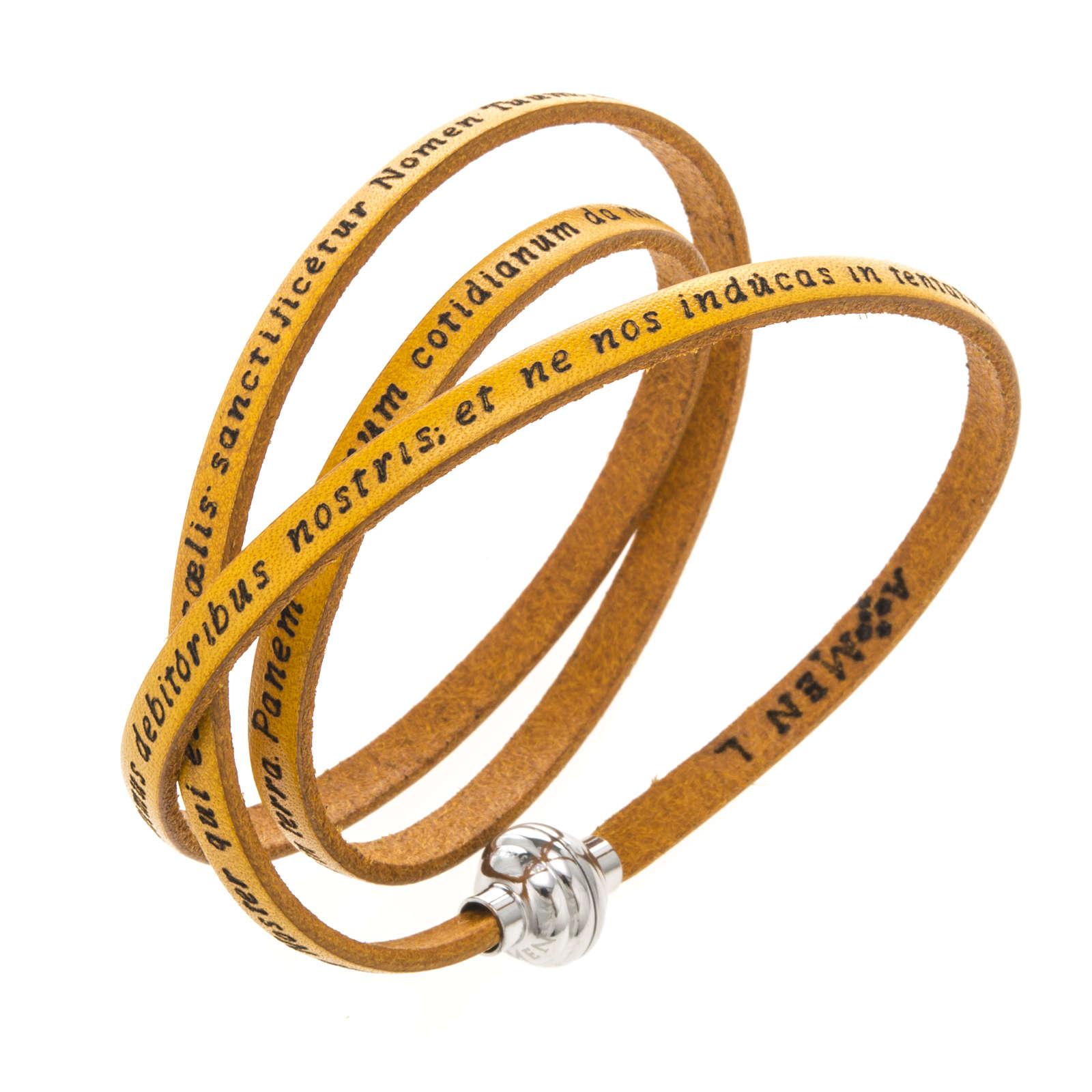 Bracelet Amen Notre Père jaune LAT 4