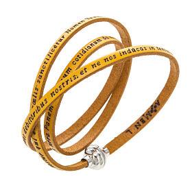 AMEN bracelets: Amen Bracelet in yellow leather Our Father LAT