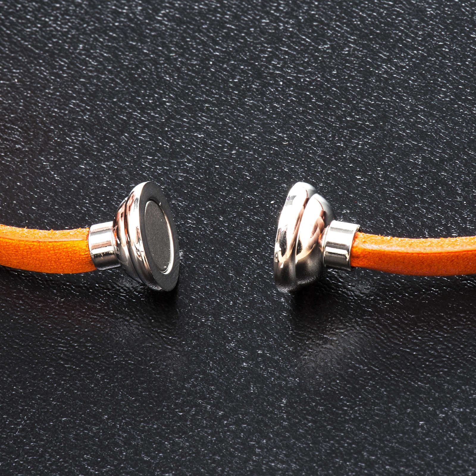Amen Bracelet in orange leather Our Father LAT 4