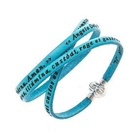 AMEN bracelets: Amen Bracelet in turquoise leather Guardian Angel LAT