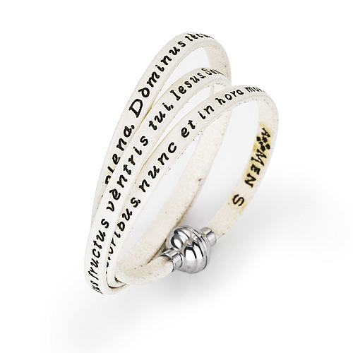 d6daeaea577 Pulsera amén ave maría latín blanco venta online en holyart jpg 500x500  Pulsera el ave maria