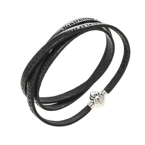Bracelet Amen Notre Père noir ESP 1