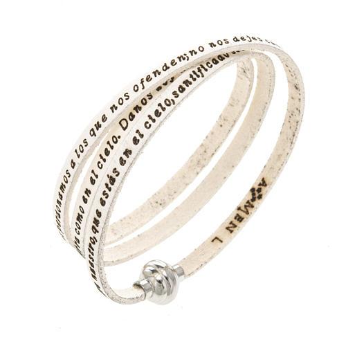Bracelet Amen Notre Père blanc ESP 1