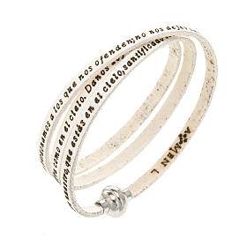 Amen Bracelet in white leather Our Father SPA s1