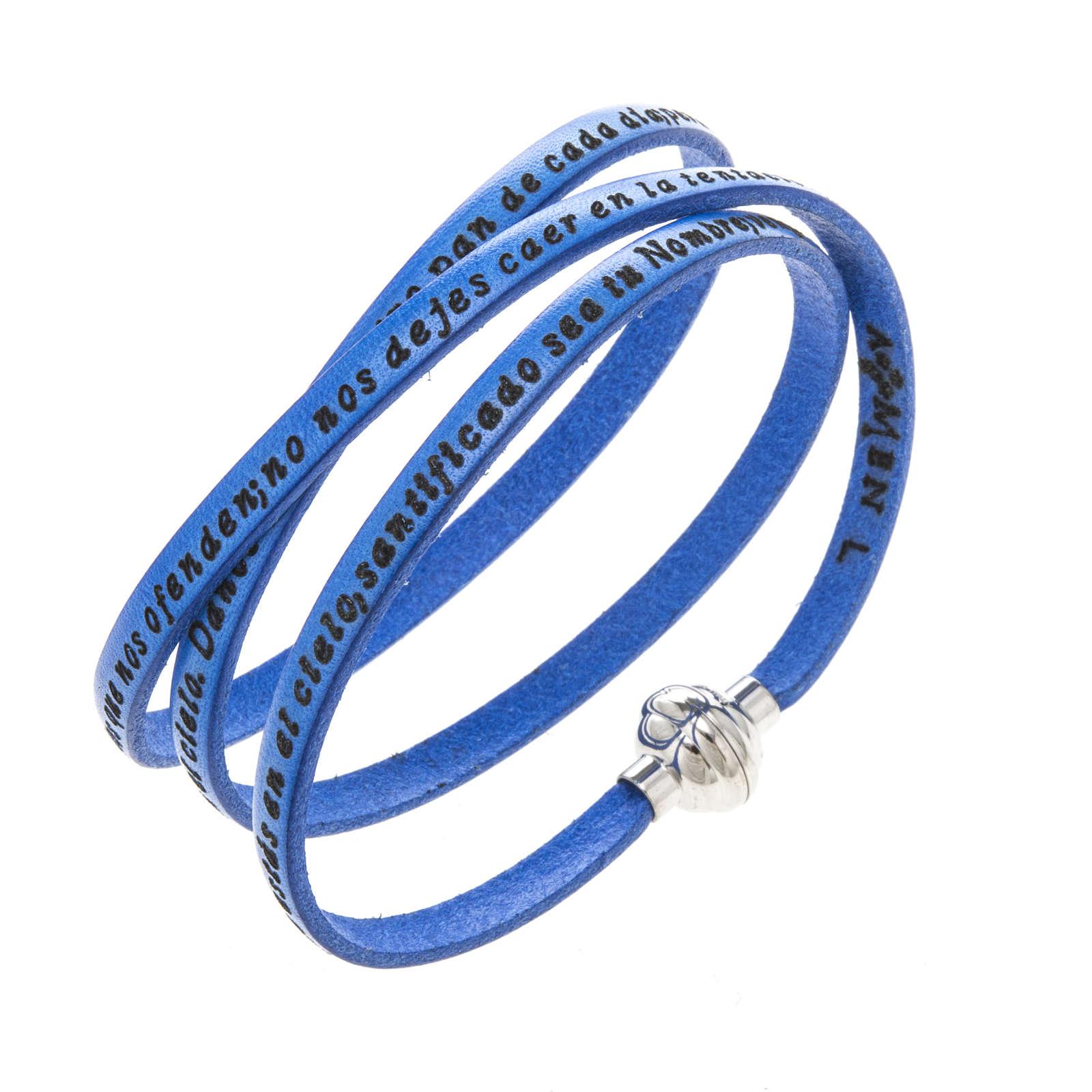Bracelet Amen Notre Père bleu ESP 4