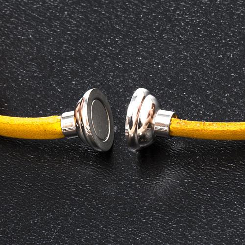 Bracelet Amen Notre Père jaune ESP 2