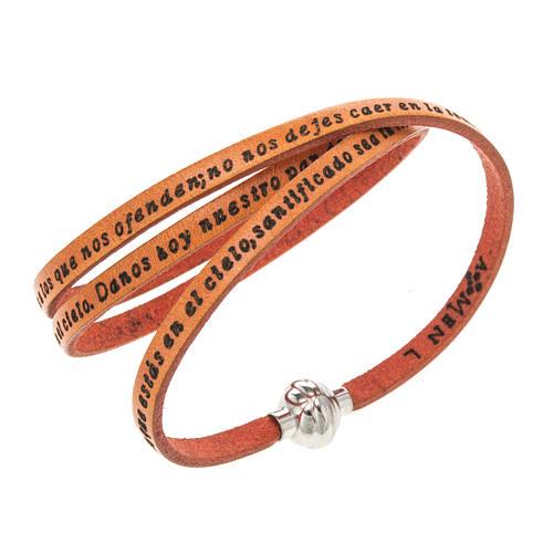 Bracelet Amen Notre Père orange ESP 1