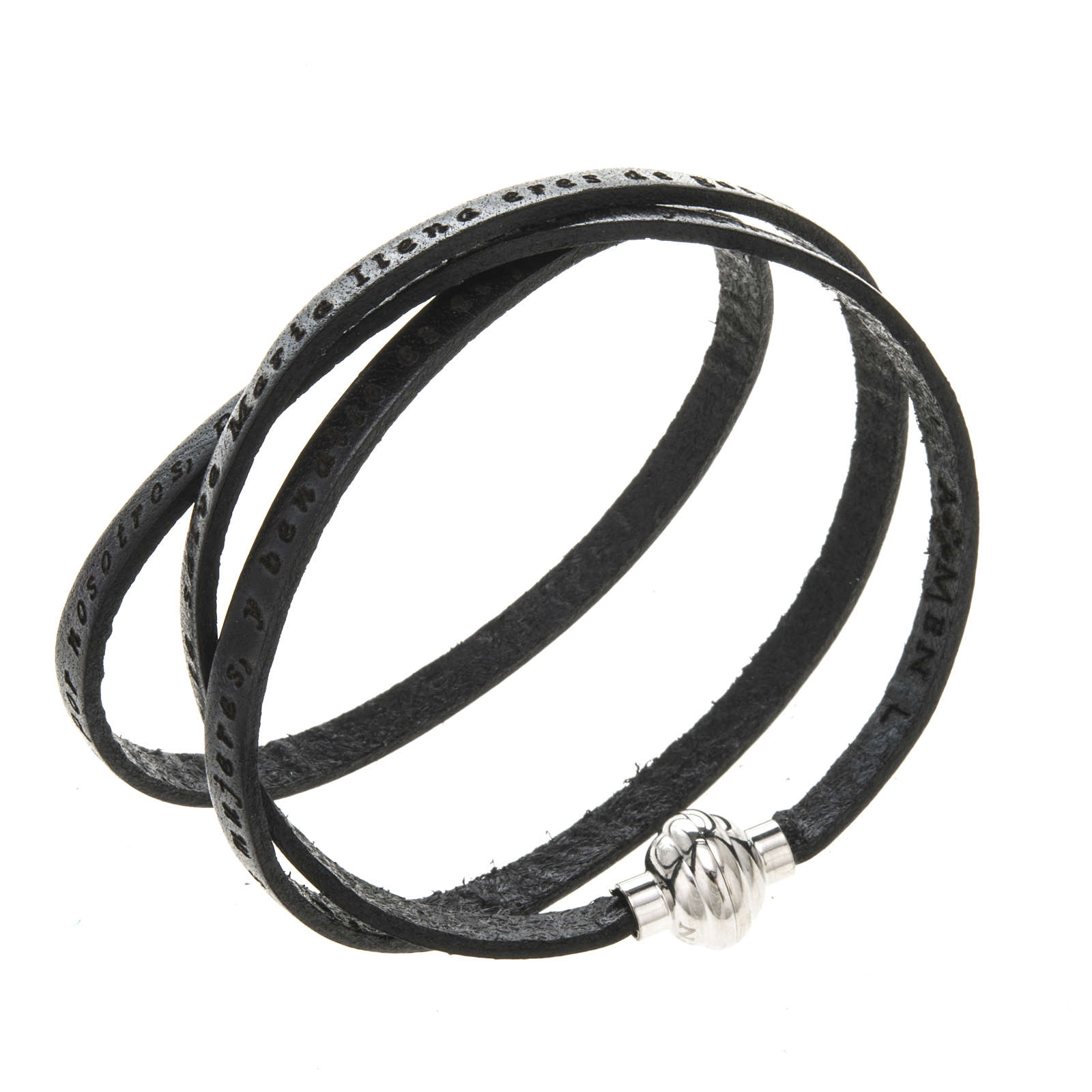 Bracelet Amen Je Vous Salue Marie noir ESP 4